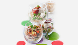 Verrine with quinoa