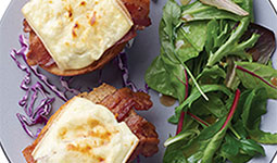 Bacon cheese bruschetta