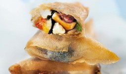 Chicken, Fig & Goat Cheese Samosa