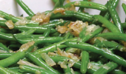 Green Beans With Glazed Shallots