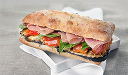Grilled Vegetable Sandwich with Prosciutto