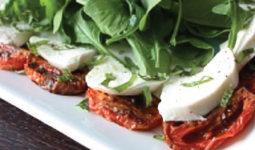 Roasted Tomato and Bufala Mozzarella Caprese Salad
