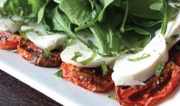 Roasted Tomato and Bufala Mozzarella Caprese Salad